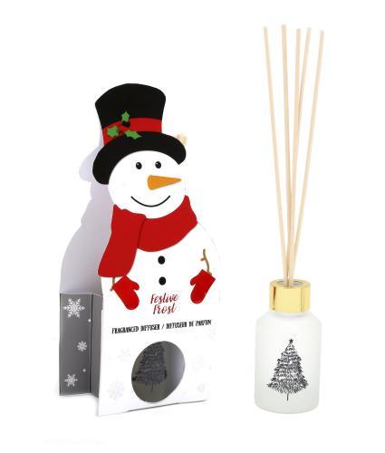 Snowman Festive Frost 80ml Reed Diffuser