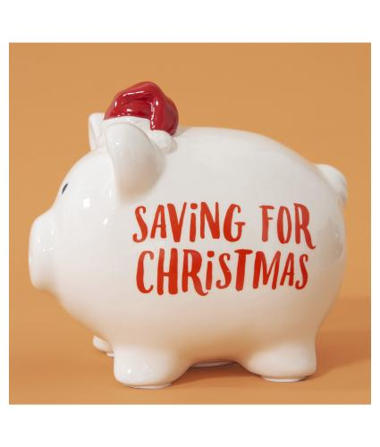 Saving for Christmas Ceramic Piggy Bank