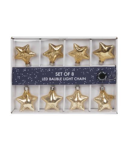 Star Glass Bauble LED Light Chain