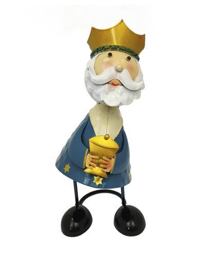 Wobbling Head King Decorations - Blue