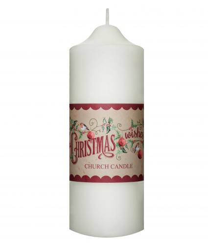 Cream Church Candle Cancer Research UK Christmas gift
