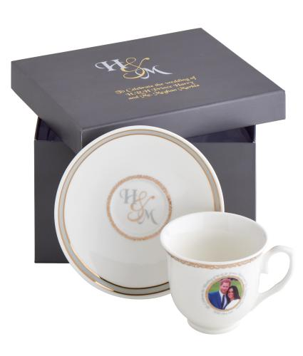 Harry and Meghan Royal Wedding China Cup and Saucer