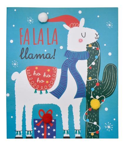 Fa La La Llama Christmas Cards - Pack of 6