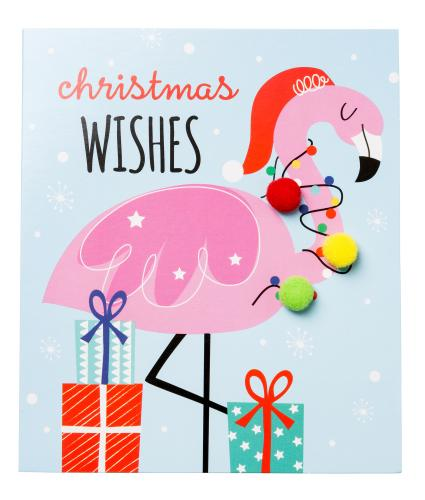 Festive Flamingo Christmas Cards - Pack of 6