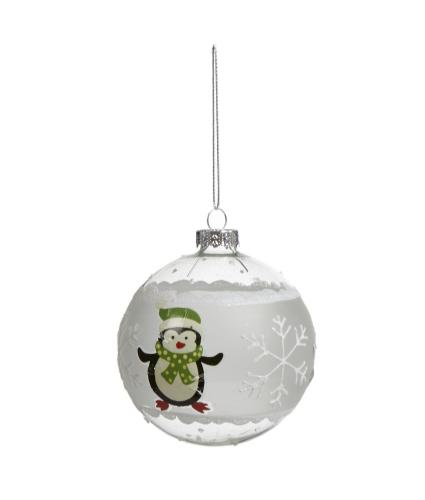Glass Character Bauble - Penguin
