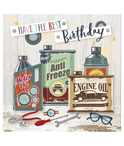 Motor Head Birthday Card