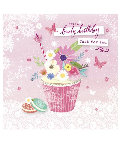 Just For You Cupcake Birthday Card