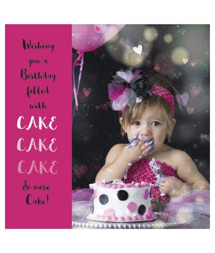 Cake, Cake and More Cake Birthday Card