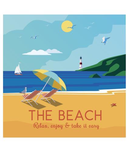 The Beach Greetings Card