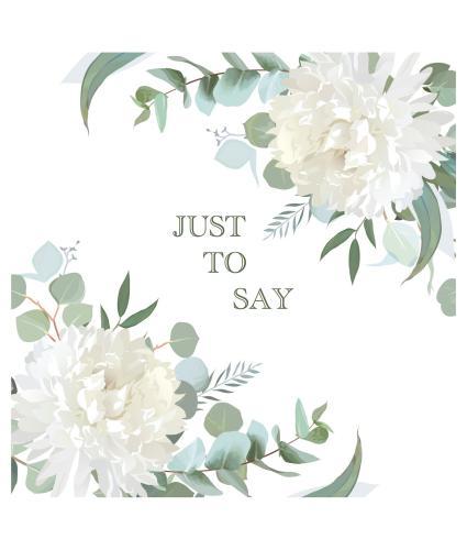 White Chrysanthemum Just to Say Greetings Card