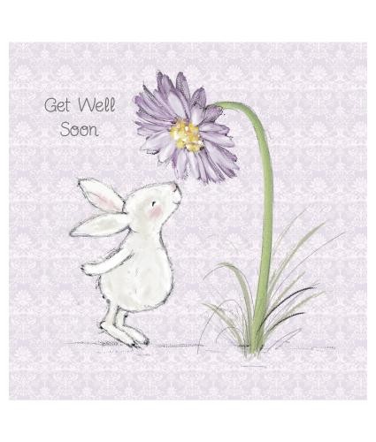 Cheerful Bunny Get Well Greetings Card