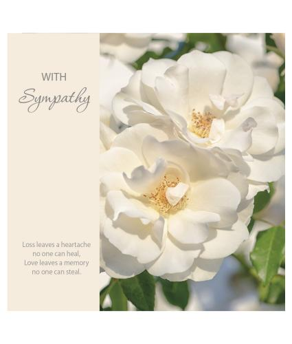 White Flower Memories Greetings Card