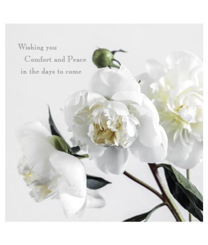 Comfort and Peace Sympathy Card