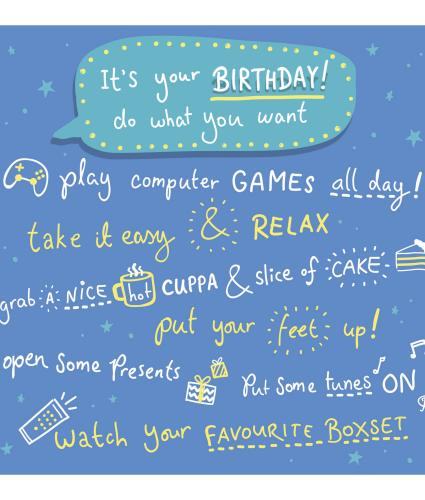 Do What You Want Birthday Card