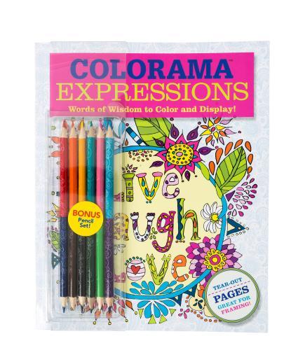 JML Colorama Expressions Live Laugh Love Colouring Book