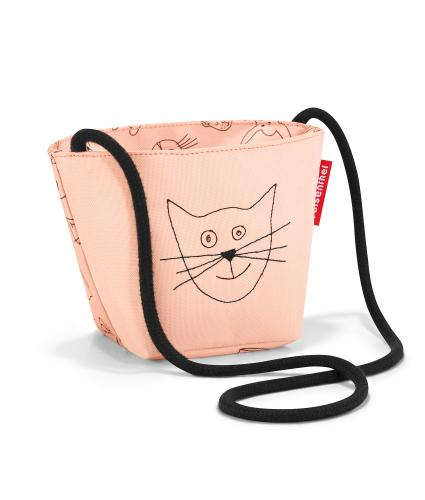 Reisenthel Cats and Dogs Mini Shoulder Bag in Pink