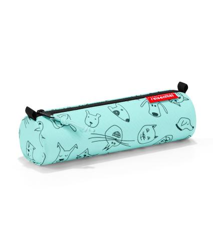 Reisenthel Cats and Dogs Roll Pencil Case in Green