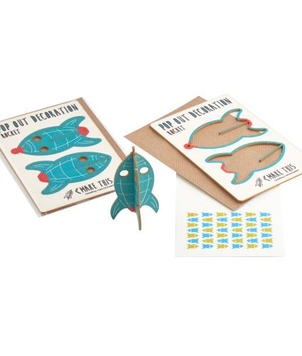 Pop Out Rocket Greeting Card