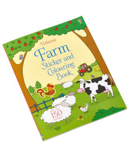 Usborne Farm Sticker and Colouring Book