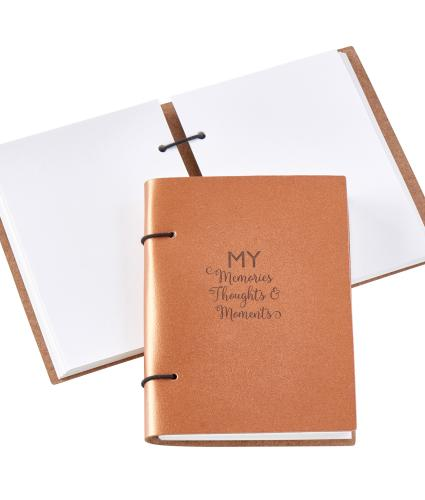 Artbox Recycled Leather My Memories, Thoughts and Moments Scrapbook in Copper