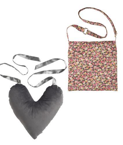 2 Piece Mastectomy Gift Collection, Grey Velvet & Flower Print