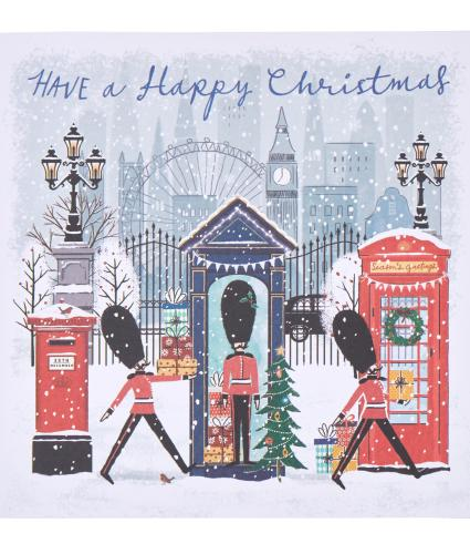 Festive London Guards Christmas Cards - Pack of 20