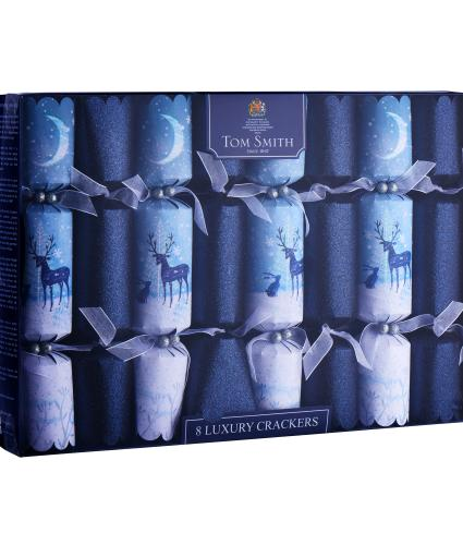 Moonlight Winter Forest Christmas Crackers