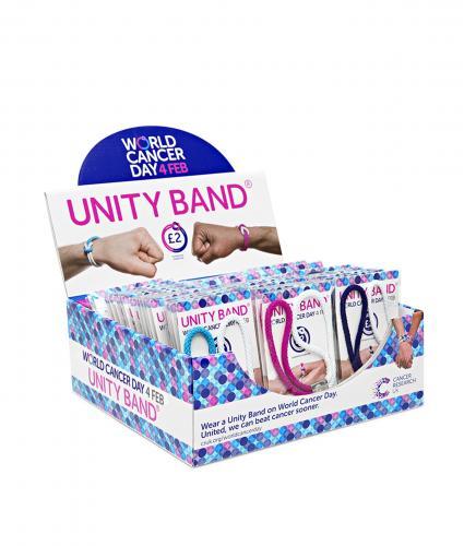 Unity Band Fundraising Box, World Cancer Day, #ActofUnity