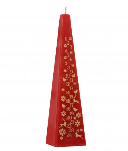 Red Advent Candle Cancer Research UK Christmas Gift