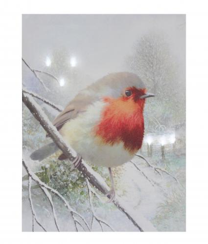 robin mounted print cancer research uk christmas gift