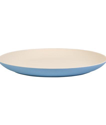 Blue 2-Tone Bamboo Dinner Plate