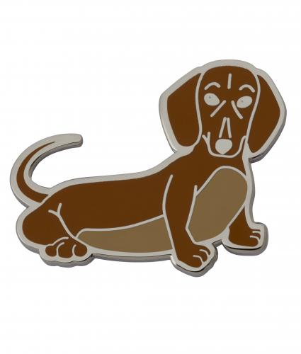 Sausage Dog Novelty Pin Badge