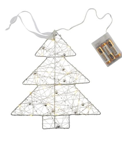 Silver LED Christmas Tree Light