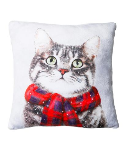 Small Winter Cat Cushion