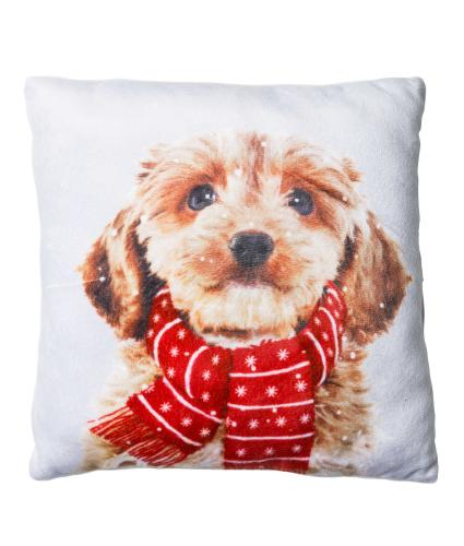 Small Winter Dog Cushion
