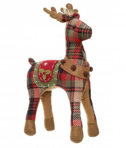 Reindeer Light Plaid Print Cancer Research UK Christmas Gift