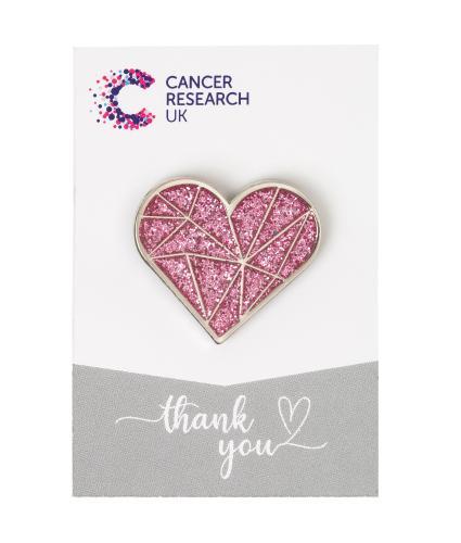 Pink Heart Pin Badge