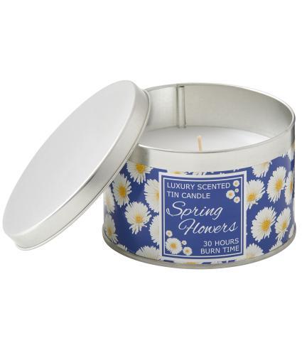 For Kate Blue Gerbera Tin Candle