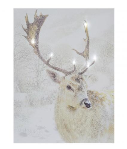 stag mounted print cancer research uk christmas card