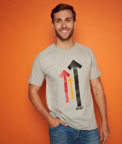 Stand Up To Cancer Men's Grey T-shirt