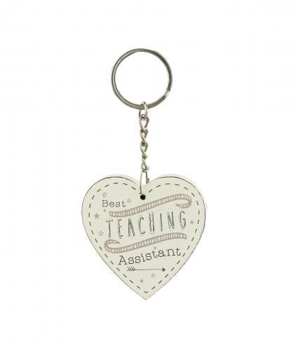 Cancer Research UK Online Shop, Thank You Teacher Gifts, Heart Keyring – Best Teaching Assistant