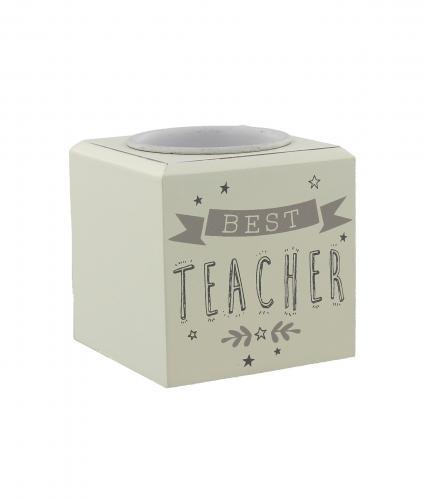 Cancer Research UK Online Shop, Thank You Teacher Gifts, T-light Candle Holder – Best Teacher