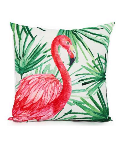 Tropical Flamingo Cushion