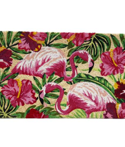 Tropical Flamingo Doormat
