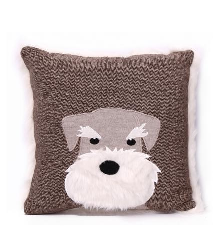 Scotty Dog Taupe Cushion