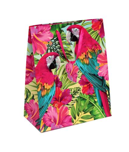 Tropical Large Parrot Gift Bag
