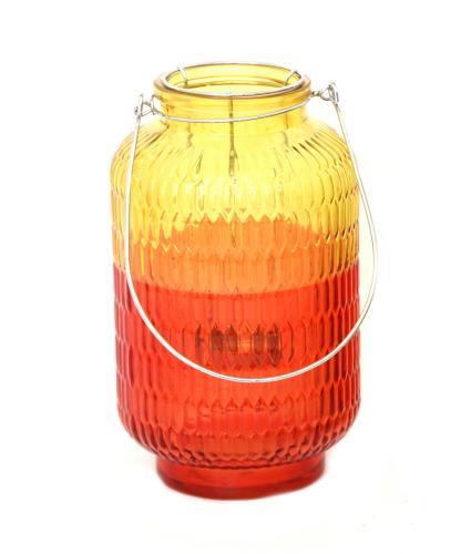 Two Tone Yellow Glass Lantern