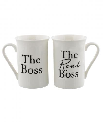 The Boss and The Real Boss Mugs, Wedding Gift, Cancer Research UK