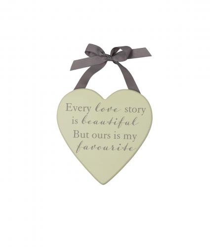 Love Story Plaque, Wedding Gift, Cancer Research UK