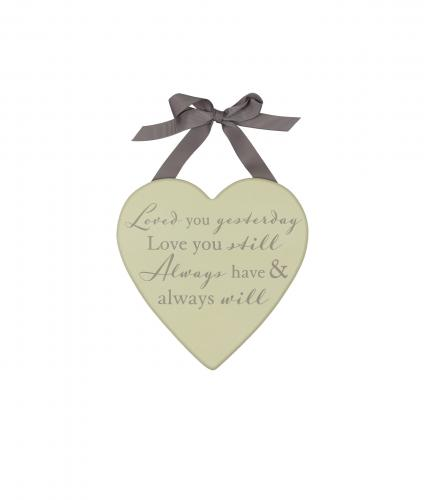 Loved You Yesterday Plaque, Wedding Gift, Cancer Research UK